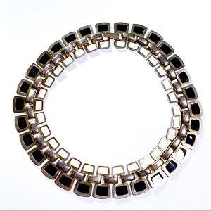 Vintage Statement Necklace Black White
